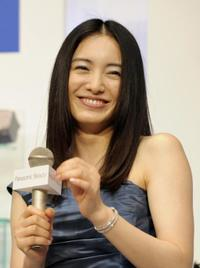 Yukie Nakama at the press preview of new Panasonic brand's nano-care hair dryer, nano-care ionic steamer and shaver.