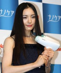 Yukie Nakama at the press preview of Matsushita Electric's new