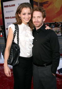 Seth Green and Candace Bailey at the premiere of