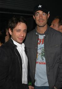 Chris Kattan and Carson Daly at the Sony Computer Entertainment's PSP Factory Party.