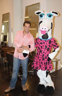Cristian de la Fuente at the birthday celebration for Miss Maggie Moo and the girls from the Boys & Girls Club.