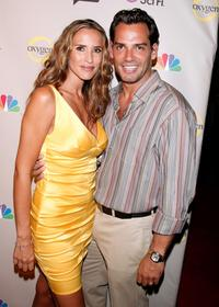 Angelica Castro and Cristian de la Fuente at the NBC Universal 2008 Press Tour All-Star party.