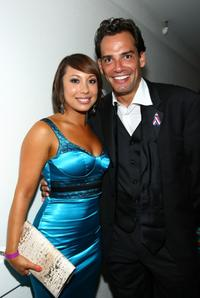 Cheryl Burke and Cristian de la Fuente at the 2008 ALMA Awards VIP post party.