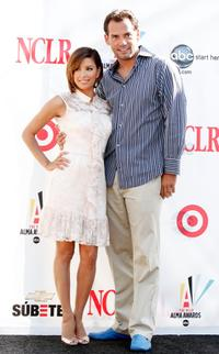 Eva Longoria Parker and Cristian de la Fuente at the 2008 ALMA Awards nominee announcements.
