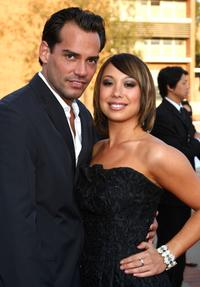 Cristian de la Fuente and Cheryl Burke at the 2008 JCPenney Asian Excellence Awards.
