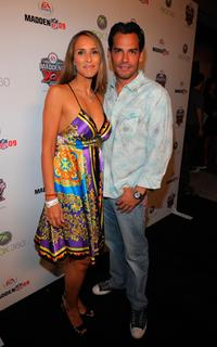 Angelica Castro and Cristian de la Fuente at the Madden NFL 09 premiere party.