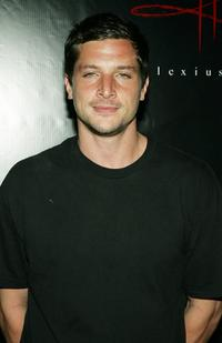 Simon Rex at the Christian Audigier Fashion Show launching Ed Hardy Vintage Tattoo Wear.
