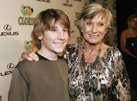 Erik Per Sullivan and Cloris Leachman at the celebration of Cloris Leachman's 60 years in show business.