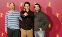Producer Diego Dubcovsky, Daniel Burman and Daniel Hendler at the photo of