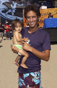 Macy and Rob Machado at the Surfrider Celebrity Surf Jam in California.