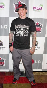 Carey Hart at the LG All-Star Poker Showdown and Party.