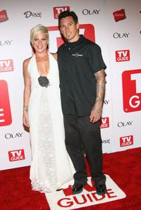 Pink and Carey Hart at the 4th Annual TV Guide after party celebrating Emmys 2006.