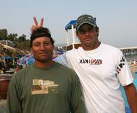 Dave Kalama and Laird Hamilton at the premiere of