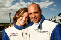 Erin McNaught and Kelly Slater at the Celebrity Challenge during the 2007 F1 ING Australian Grand Prix.