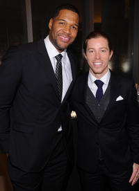Michael Strahan and Shaun White at the 2012 GQ Gentlemen's Ball in New York.