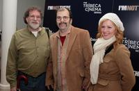 Mitch Blank, Steve Earle and Allison Moorer at the special cocktail reception and panel discussion of