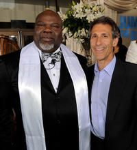T.D. Jakes and Chairman and CEO of Sony Pictures Entertainment Michael Lynton at the California premiere of