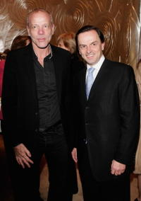 Pascal Greggory and Stanislas De Quercize at the inauguration of the renovated Van Cleef And Arpels Salon.