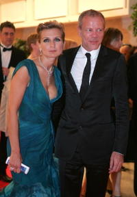 Pascal Greggory and Melita Toscan Du Plantier at the 57th International Cannes Film Festival opening ceremony dinner.