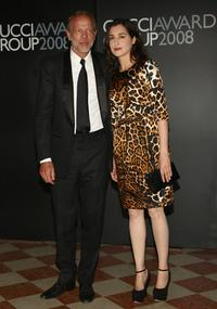 Pascal Greggory and Amira Casar at the Gucci Awards during the 65th Venice Film Festival.