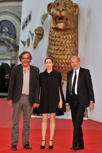 Producer Paulo Branco, Amira Casar and Pascal Greggory at the premiere of