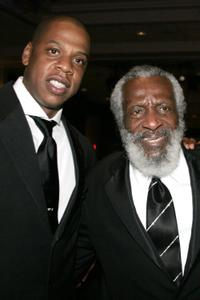 Jay-Z and Dick Gregory at the Radio One's 25th Anniversary Awards Gala.