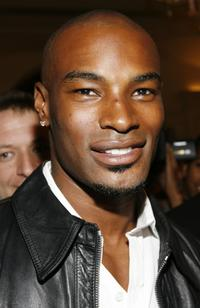 Tyson Beckford at the celebration of Ralph Laurens 40th Anniversary.