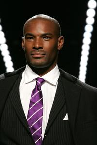 Tyson Beckford at the Fashion for Relief fashion show during the Olympus Fashion Week.