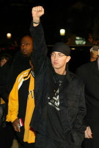 Eminem at the premiere of