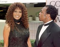 Pam Grier and Keven Evans at the 55th Annual Golden Globe Awards.