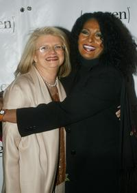 Pam Grier and Geraldine Laybourne at the Oxygen Media 2nd Anniversary Party.