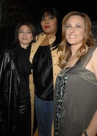 Pam Grier, Ilene Chaiken and Marlee Matlin at the season 5 premiere party for