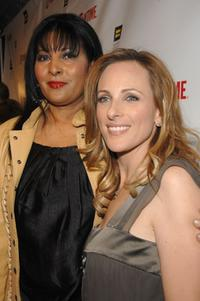 Pam Grier and Marlee Matlin at the season 5 premiere party for