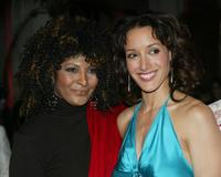 Pam Grier and Jennifer Beals at the the after party for