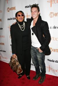 Pam Grier and Jonathan Rhys Meyers at the New York premiere of Showtime's