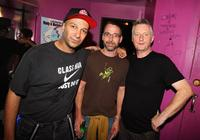 Tom Morello, Stone Gossard and Billy Bragg at the HDSA 40th Anniversary concert celebrating Woody and Marjorie Guthrie.