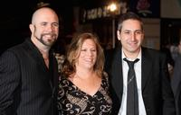Conrad Vernon, Lisa Stewart and Rob Letterman at the UK premiere of