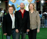 Kelly Asbury, Conrad Vernon and Andrew Adamson at the Los Angeles premiere of