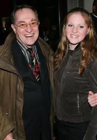 Alan Dershowitz and his daughter Ella at the premiere of