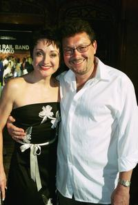 Caroline O'Connor and her husband at the Australian premiere of
