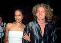 Christine Anu and Friend at the Sydney Convention and Exhibition Centre for the ARIA Awards.