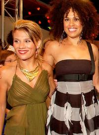 Tania Dako and Christine Anu at the Popstars Live final.