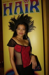 Natalie Mendoza at the opening night of the rock musical