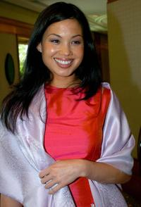 Natalie Mendoza at the press conference of