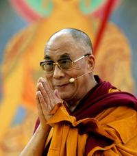 The Dalai Lama (XIV) at the Commerzbank Arena during his visit in Germany.