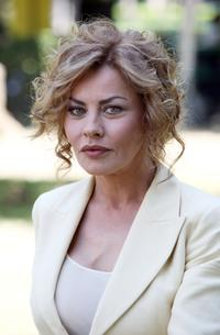Eva Grimaldi at the photo call promoting Italian TV Film