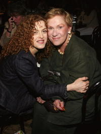 Tammy Grimes and Bernadette Peters at the 60th Annual Theater World Awards at Studio 54.