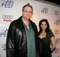 Steve Agee and Sarah Silverman at the special screening of