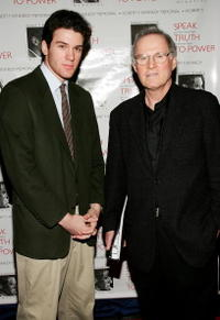 Charles Grodin and his son at the Speak Truth to Power Memorial Benefit Gala at Pier Sixty.
