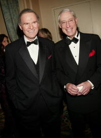 Charles Grodin and Henry Schleiff at the Museum of Television and Radio's annual gala, this year honoring NBC News anchor Tom Brokaw.